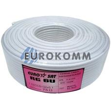 Коаксиальный кабель RG-6 EUROSAT CF603ST белый 100м