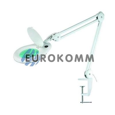 Лупа-лампа на струбцине с люминисцентной подсветкой, 3X кр. увеличение