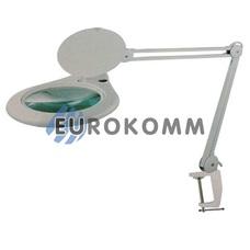Лупа-лампа на струбцине с люминисцентной подсветкой (лампа Т5/28Вт), 5X кр. увеличение