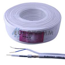 Коаксиальный кабель 3C2V+2х0.51 EUROSAT KBH-2/Cu белый 100м