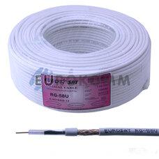 Коаксиальный кабель RG-58U EUROSAT белый 100м