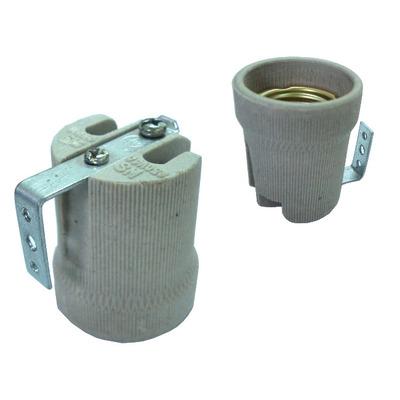 Патрон керамический с креплением HL519А-3  E27