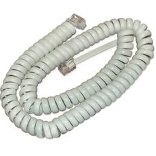 Телефонный удлинитель витой трубочный (4р4с), 2метра, белый