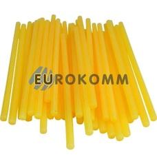 Термоклей диаметр 7мм, длина 200мм, желто-матовый, 1кг