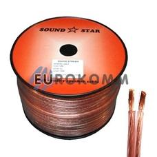 Акустический кабель 2x1.0мм² CU Sound Star 100м