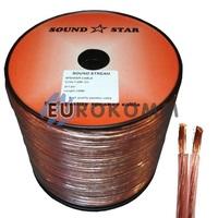 Акустический кабель 2x0.75мм² CU Sound Star 100м