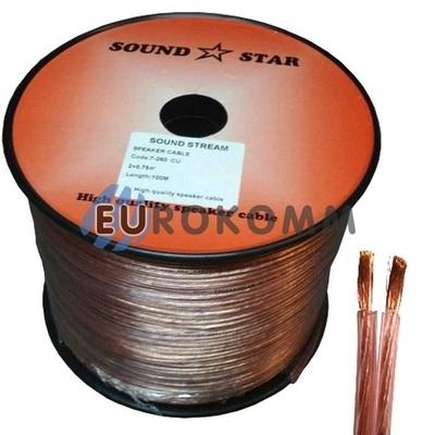Акустический кабель 2x0.5мм² CU Sound Star 100м