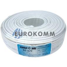 Коаксиальный кабель RG-6 EUROSAT F604ST белый 100м