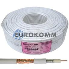 Коаксиальный кабель RG-6 EUROSAT CF604ST белый 100м