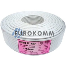 Коаксиальный кабель RG-6 EUROSAT CF604SU белый 100м