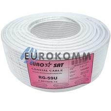 Коаксиальный кабель RG-59 EUROSAT 3C2V-/32CCa белый 100м