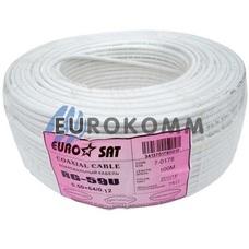 Коаксиальный кабель RG-59 EUROSAT 3C2V-/64CCa белый 100м