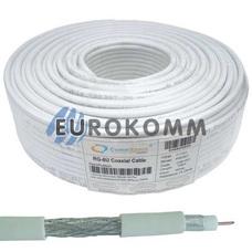 Коаксиальный кабель RG-6 CommSpace F603ST CCS белый 100м