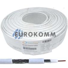 Коаксиальный кабель RG-6 CommSpace F604ST CCS белый 100м