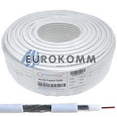 Коаксиальный кабель RG-6 CommSpace F606ST CCS белый 100м