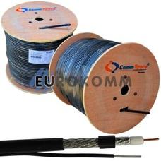 Коаксиальный кабель RG-6 CommSpace F660BVM CCS с тросом, черный 305м
