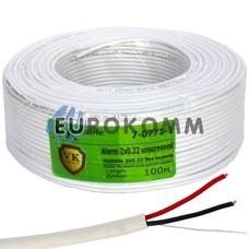 Сигнальный кабель 2х0.22 CCA без экрана 100м