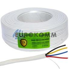 Сигнальный кабель 4х0.22 CCA без экрана 100м