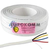 Сигнальный кабель 4х0.22 CU без экрана 100м