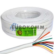 Сигнальный кабель 10х0.22 CCA без экрана 100м