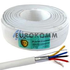Сигнальный кабель 4х0.22 CCA в экране 100м