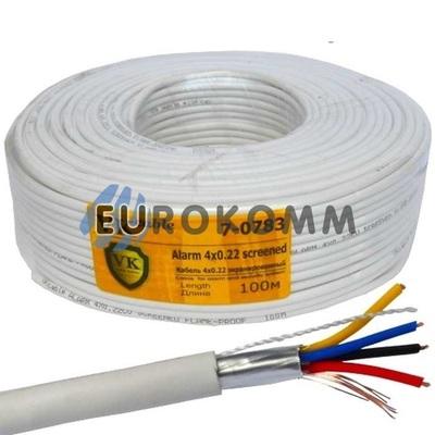 Сигнальный кабель 4х0.22 CU в экране 100м