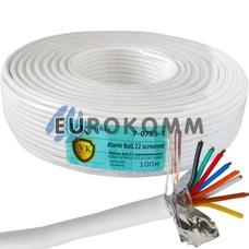 Сигнальный кабель 8х0.22 CCA в экране 100м