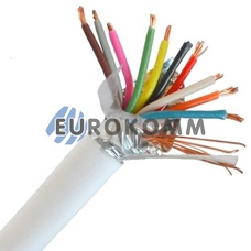 Сигнальный кабель 10х0.22 CCA в экране 100м