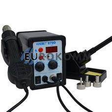 станция цифровая с феном HandsKit 878D, 700W, 100-450°C
