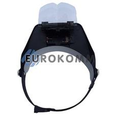Лупа бинокулярная налобная с подсветкой 1.2X – 6X кр. увеличение