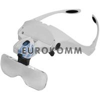 Лупа-очки бинокулярная с LED подсветкой 1X – 3.5X кр. увеличение