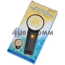 Лупа ручная круглая с LED подсветкой 2.5X кр. увеличение