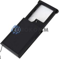 Лупа ручная выдвижная с LED подсветкой 3Х; 6Х кр. увеличение