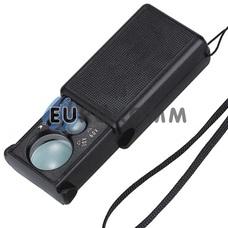 Лупа ручная выдвижная с LED подсветкой + УФ, 30X -диам. 21мм; 60X –диам.12мм