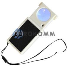 Лупа ручная выдвижная с LED подсветкой 45X кр. увеличение
