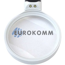 Лупа ручная круглая с LED подсветкой 5X кр. увеличение