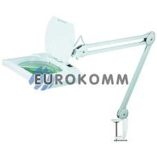 Лупа-лампа на струбцине с LED подсветкой, 3Х кр. увеличение
