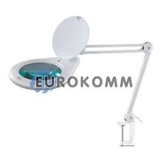 Лупа-лампа на струбцине с LED подсветкой, 3X кр. увеличение