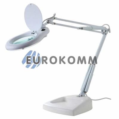 Лупа-лампа настольная с LED подсветкой, 5X кр. увеличение