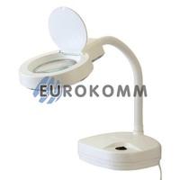 Лупа-лампа настольная с LED подсветкой на гибкой ножке, 3X; 8X кр. увеличение