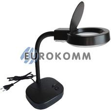 Лупа-лампа настольнаяс с люминисцентной подсветкой (T4/12Вт), 3X; 8X кр. увеличение