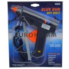 Пистолет клеевой ZD-9A под клей 11мм c регулятором температуры, 200W