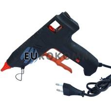Пистолет клеевой с кнопкой HD-02 под клей 11мм, 120W, черный