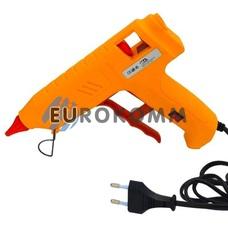 Пистолет клеевой с кнопкой HD-02 под клей 11мм, 120W, желтый