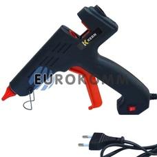Пистолет клеевой с кнопкой HD-01 под клей 11мм, 180W, черный