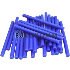 Термоклей диаметр 7мм, длина 100мм, синий, 1кг