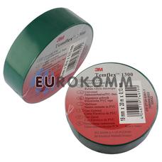Изолента 3M TEMFLEX™ 1300 (0.13мм х19мм х20м, зеленая)