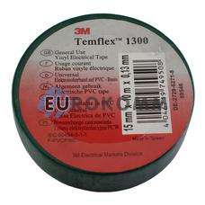 Изолента 3M TEMFLEX™ 1300 (0.13мм х15мм х10м, зеленая)