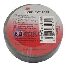 Изолента 3M TEMFLEX™ 1300 (0.13мм х15мм х10м, серая)