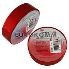 Изолента 3M TEMFLEX™ 1300 (0.13мм х15мм х10м, красная)